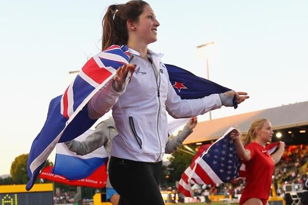 The pole vault medallists at the IAAF World Junior Championships, Oregon 2014 (Getty Images)