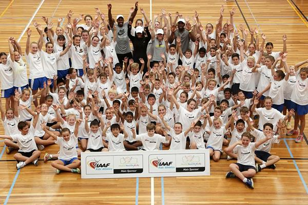 The launch of the IAAF Nestle Healthy Active Kids Athletics in Melbourne (Getty Images)