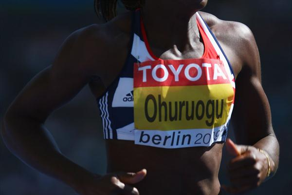 Olympic and World Champion Christine Ohuruogu of Great Britain & Northern Ireland during her campaign to defend her 400m title (Getty Images)