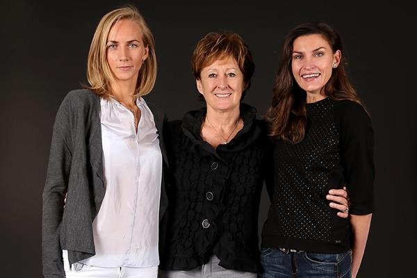 Svetlana Shkolina, Sara Simeoni and Anna Chicherova (Giancarlo Colombo)