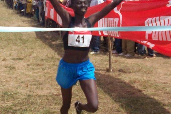 Adero Nyakisi defends her Ugandan national XC title (Daniel Senfuma)