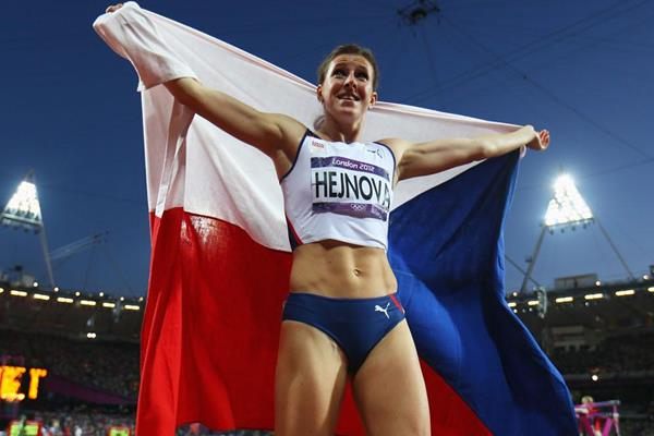 Zuzana Hejnova after taking bronze in the 400m hurdles at the London 2012 Olympics (Getty Images)