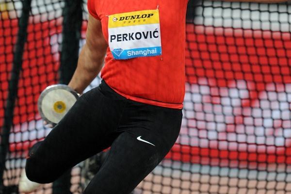 Sandra Perkovic opens her international season with a victory in Shanghai (Errol Anderson)