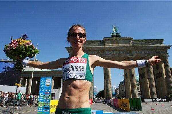 Olive Loughnane with her silver medal in Berlin 2009 (Getty Images)