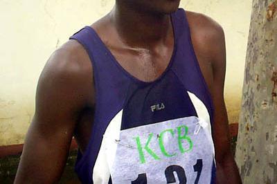 Sammy Kitwara after his victory in Machakos (Omulo Okoth)