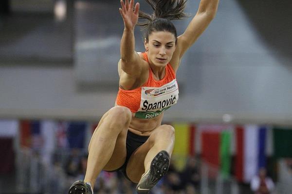 Ivana Spanovic at the 2016 Dusseldorf indoor meeting (Jean-Pierre Durnad)