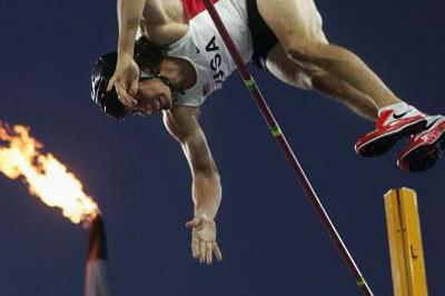 Toby Stevenson of the US in the Pole Vault (Getty Images)