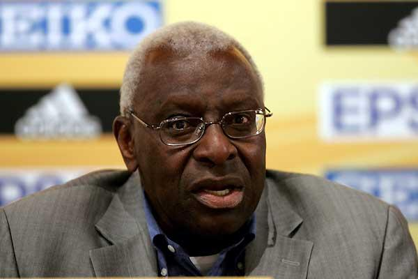 Lamine Diack at the IAAF Press Conference, Fundacíon Caixa Galicia, La Coruña (Getty Images)