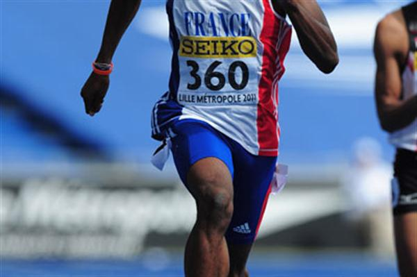 Michael-Meba ZEZE of France in action in the Boys 200 metres heats - Day Three - WYC Lille 2011 (Getty Images)