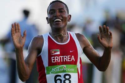Zersenay Tadese (ERI) wins in Mombasa (Getty Images)