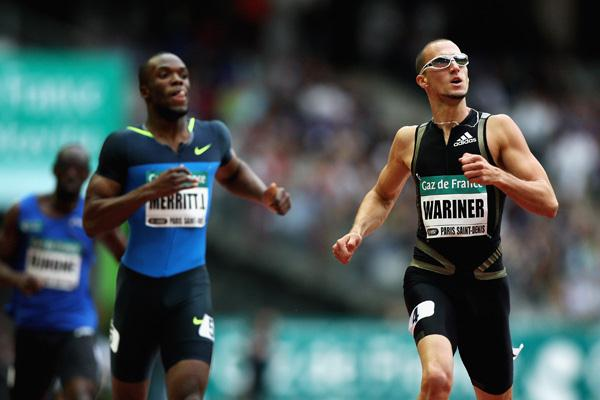 Jeremy Wariner runs a world-leading 43.86 in the 400m in Paris (Getty Images)
