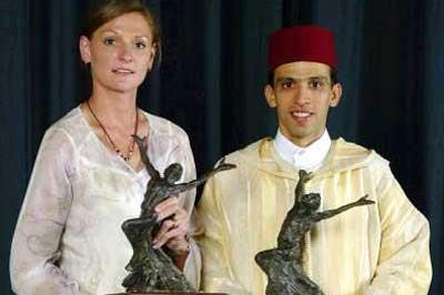 2003 World Athletes of the Year - Hestrie Cloete and Hicham El Guerrouj (Getty Images)