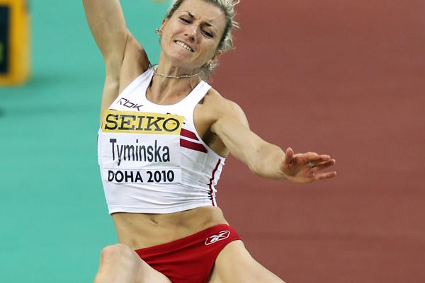 Karolina Tyminska of Poland during the Pentathlon Long Jump (Getty Images)