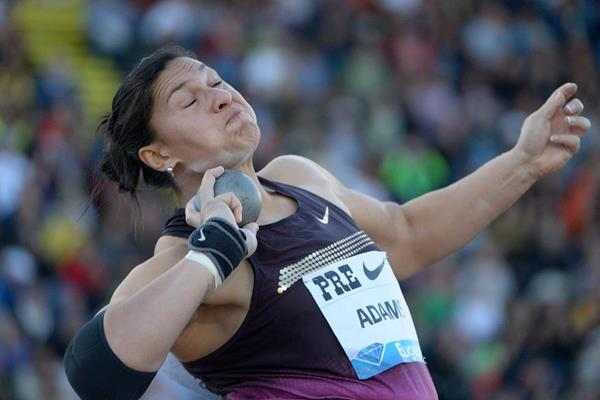 Valerie Adams at the 2013 IAAF Diamond League meeting in Eugene (Kirby Lee)