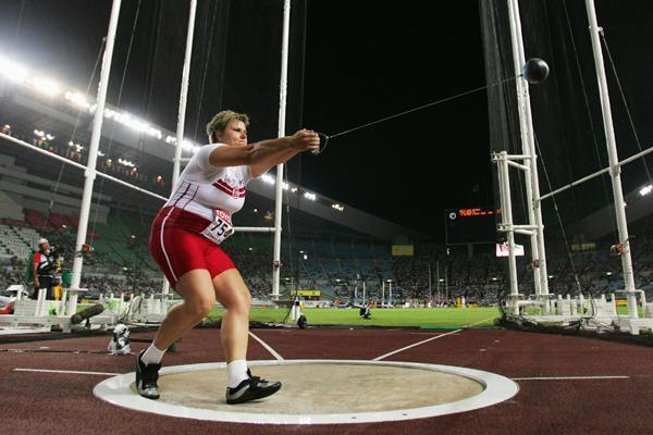 Kamila Skolimowska of Poland competes in the Women's Hammer Throw Final (Getty Images)