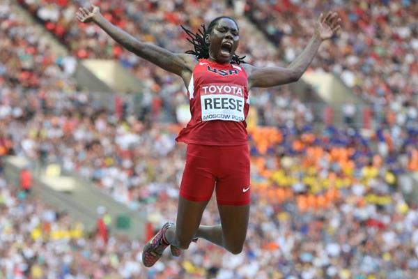 Brittney Reese in the women's Long Jump at the IAAF World Championships Moscow 2013 (Getty Images)