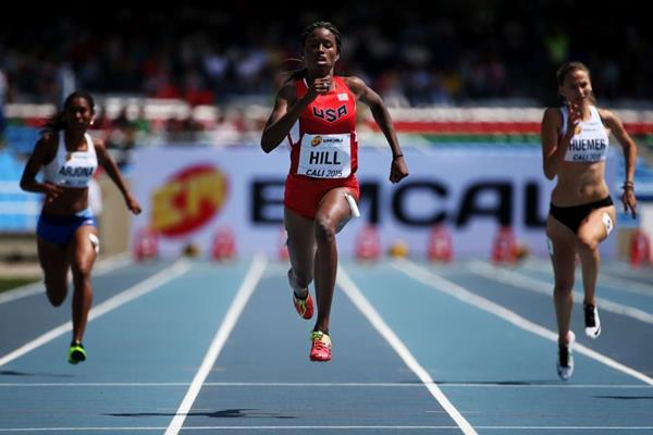 Candace Hill at the IAAF World Youth Championships, Cali 2015 (Getty Images)