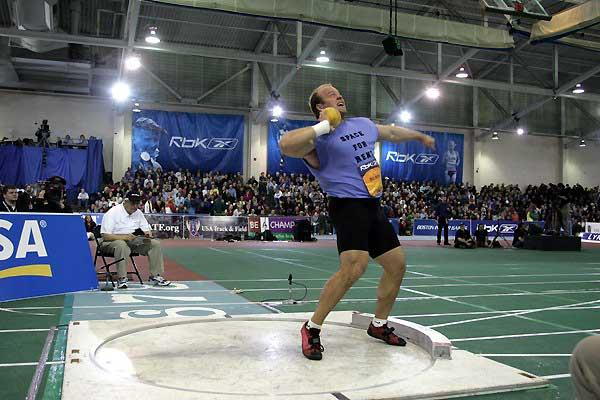 Adam Nelson shot puts 21.66m in Boston (Victah Sailer)