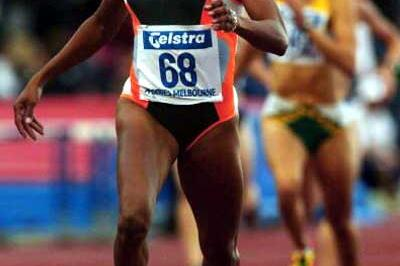 Cathy Freeman running 400m in Melbourne (Getty Images)