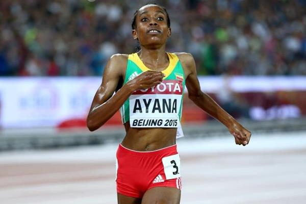 Almaz Ayana wins the 5000m at the IAAF World Championships, Beijing 2015 (Getty Images)