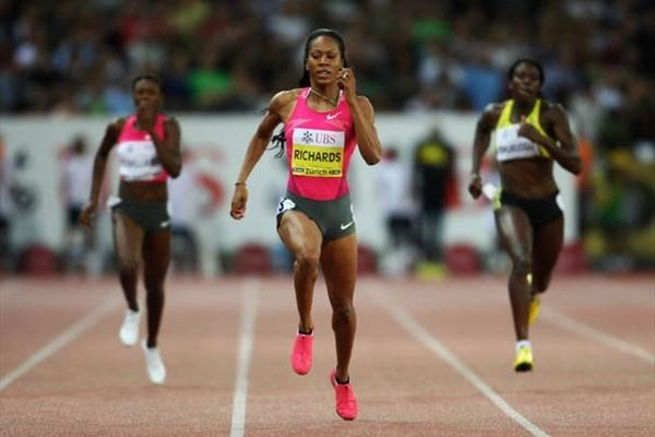 Sanya Richards runs a World Leading time of 48.94 seconds in Zurich (Getty Images)