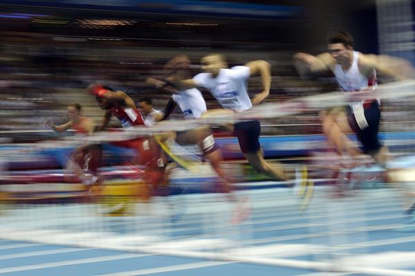 The men's 60m hurdles (Getty Images)