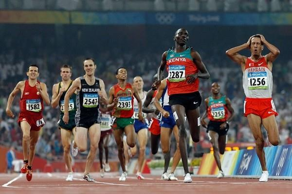 Rashid Ramzi wins the men's Olympic 1500m title (Getty Images)