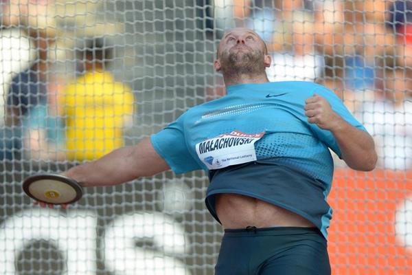 Piotr Malachowski at the 2013 IAAF Diamond League in London (Kirby Lee)