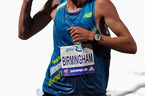 Collis Birmingham wins the 2009 Zatopek 10,000m in Melbourne (Getty Images)