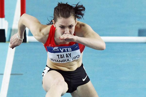 Alina Talay of Belarus in the 60m Hurdles (Getty Images)
