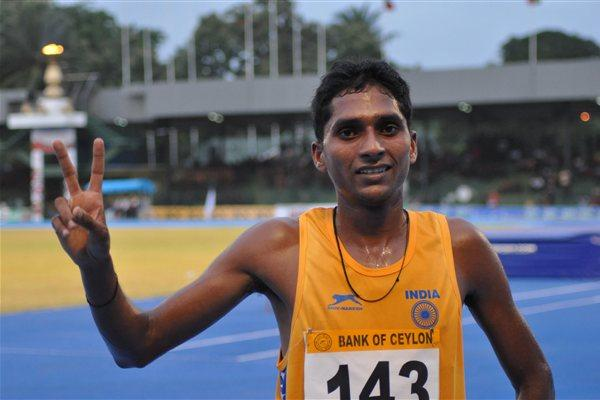 India's Rahul Kumar Pal won a distance-double winning 5000 and 10000m races at Colombo (Rahul Nawar)