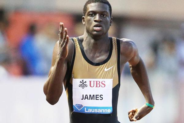 Kirani James - another fast win in Lausanne (Gladys Chai van der Laage)