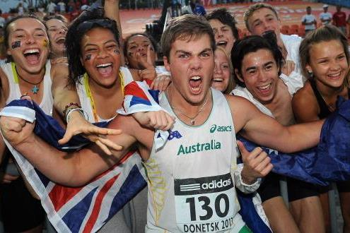 Matthew Denny in the boys' Discus Throw at the IAAF World Youth Championships 2013  (Getty Images )