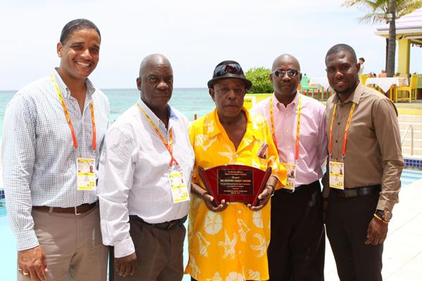 CASJA members (l-r) Kwame Laurence, Brent Stubbs, Godfrey Brown, Michael Bascombe and Andre Lowe (CASJA / Patr.ick Hanna)
