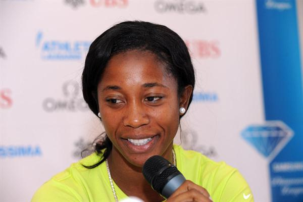 Shelly-Ann Fraser-Pryce in Lausanne (ATHLETISSIMA/Denis Roulet)