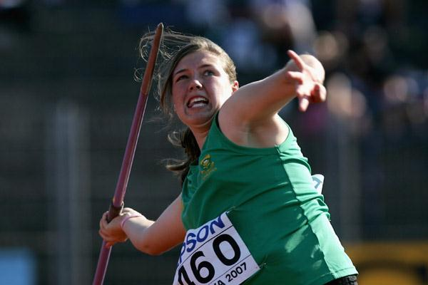 Tazmin Brits of RSA wins the Javelin Throw final (Getty Images)