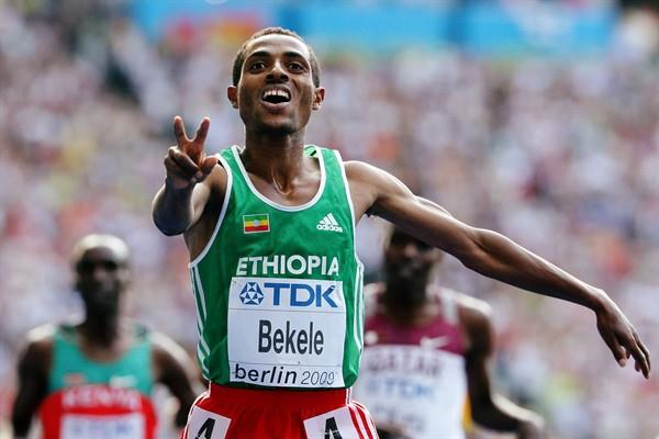 Kenenisa Bekele of Ethiopia can add the 5000m World Championship title to his collection after winning in Berlin (Getty Images)
