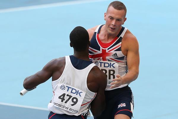 Britain's Richard Kilty after the 4x100m (Getty Images)