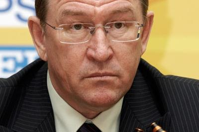 Nikolay Emelyanov, Mayor of Cheboksary, during the Press Conference (Getty Images)