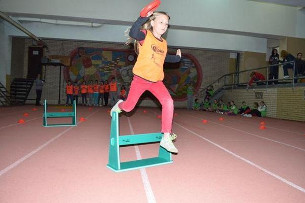 IAAF / Nestlé Kids' Athletics in action at the National Sport Academy in the capital city of Sofia, Bulgaria (c)