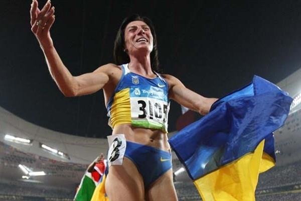 Iryna Lishchynska after her 1500m silver medal in Beijing (AFP / Getty Images)