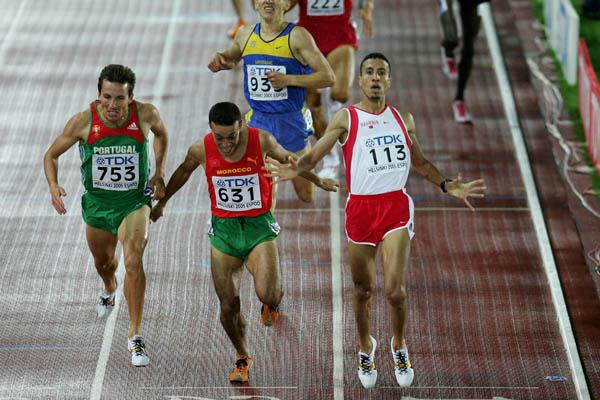 Rashid Ramzi of Bahrain wins the men's 1500m final (Getty Images)