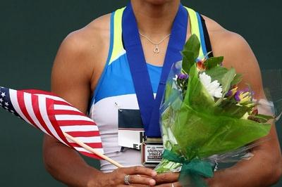 Hyleas Fountain after her victoryat the U.S. Olympic Trials (Getty Images)