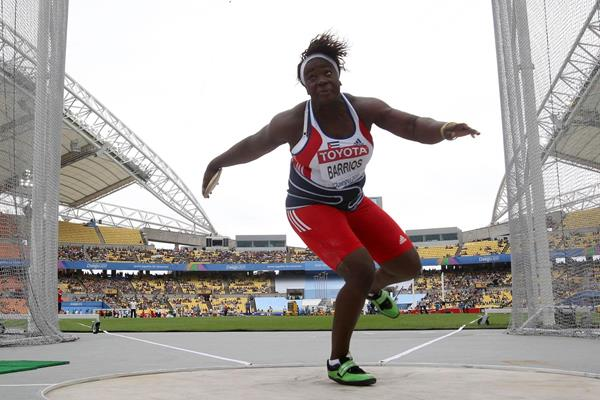 Yarelis Barrios of Cuba automatically qualifies in the women's Discus Throw (Getty Images)