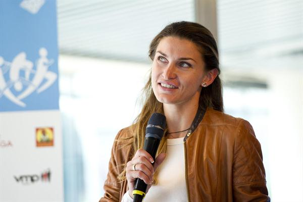 Olympic High Jump champion Anna Chicherova in Stockholm (Deca Text & Bild)