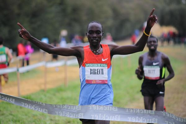 Kenya's Jairus Birech winning at the 2013 'Cross Internacional de Itálica' in Santiponce (Sevilla) (Alfambra Fundacion ANOC)