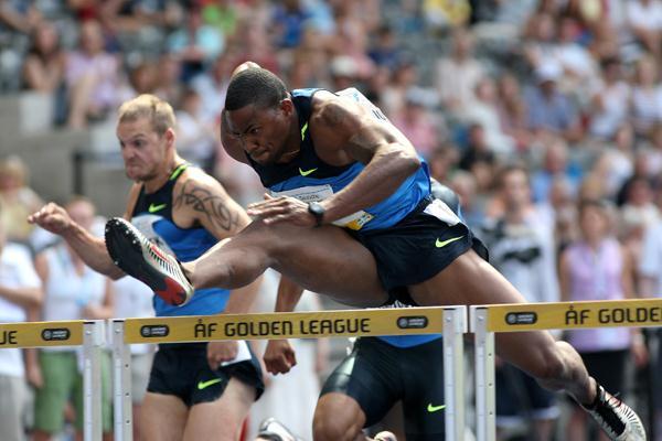 David Oliver, winner of the men's 110m hurdles (Getty Images)