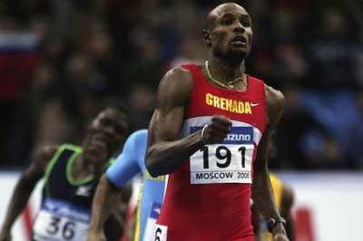 Alleyne Francique of Grenada on his way to victory in the men's 400m final (Getty Images)
