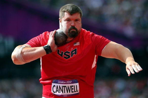 Christian Cantwell of the United States competes in the Men's Shot Put qualification on Day 7 of the London 2012 Olympic Games at Olympic Stadium on August 3, 2012 (Getty Images)