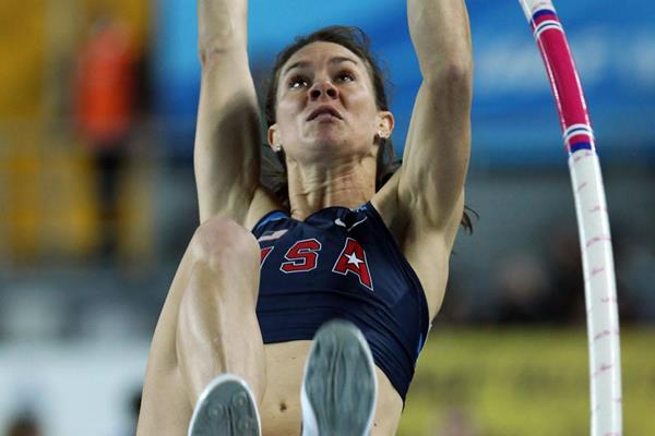Mary Saxer of the United States competes in the Women's Pole Vault Final during day three - WIC Istanbul (Getty Images)